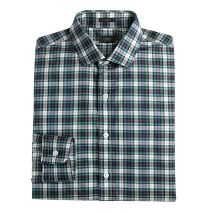 Ludlow spread-collar shirt in autumn leaf