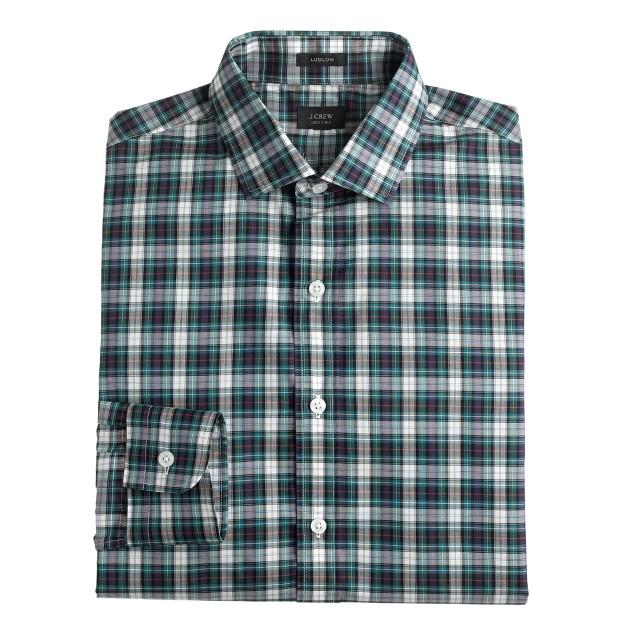 Ludlow spread-collar shirt in autumn leaf