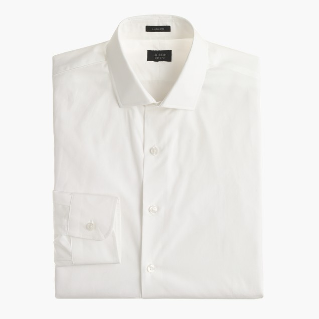 Tall Ludlow spread-collar shirt with convertible cuffs