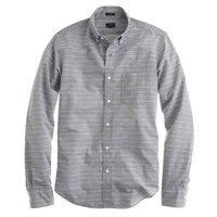 Slim Secret Wash shirt in heathered blue haze stripe