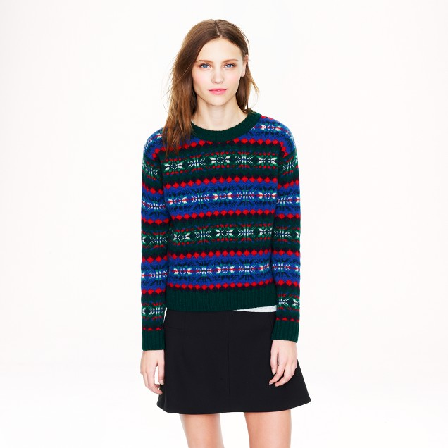 Harley of Scotland™ for J.Crew Fair Isle sweater