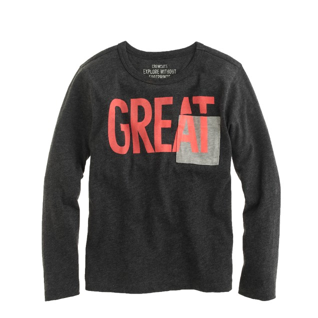 Boys' long-sleeve great tee