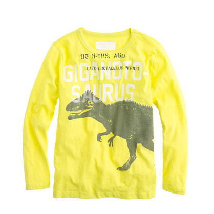 Boys' long-sleeve giganotosaurus tee