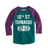 Boys' tornados baseball tee