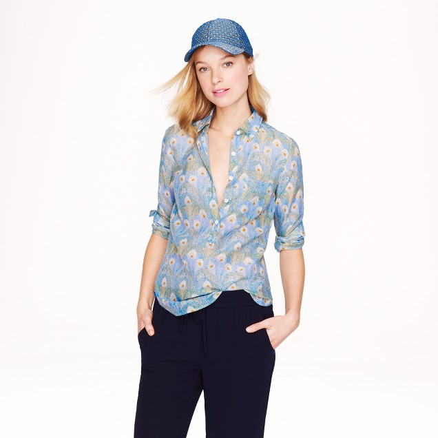 Popover in Liberty Hera feather print