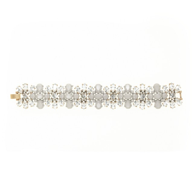 Coated stone stripe bracelet