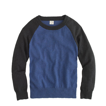 Boys' cotton-cashmere baseball sweater