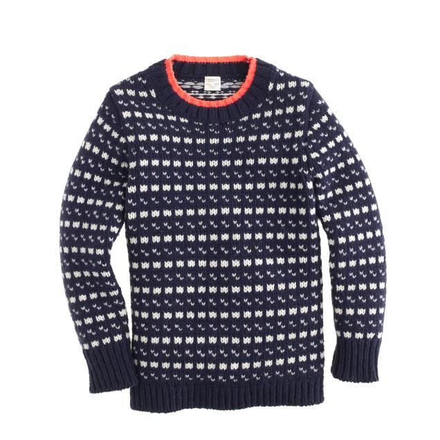 Boys' Norwegian dot sweater