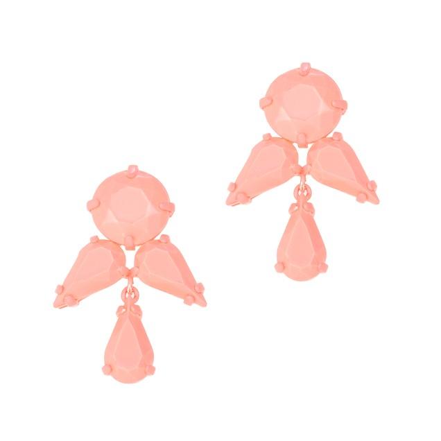 Coated stone earrings