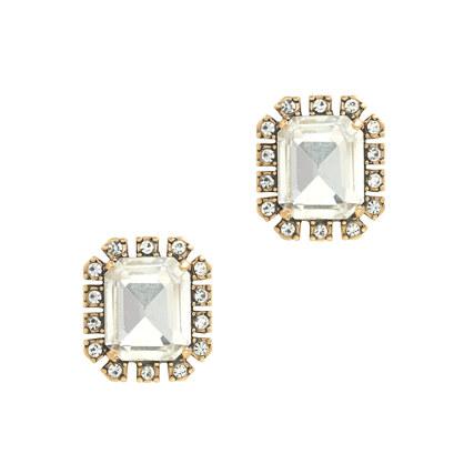 Octagon gem earrings