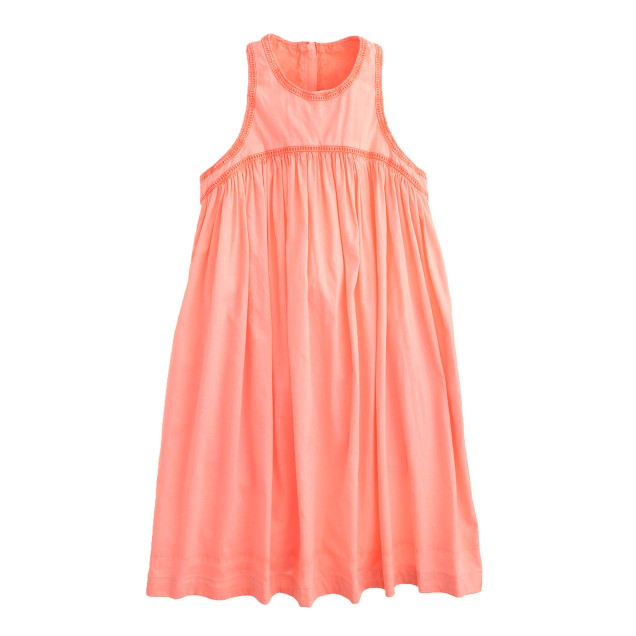 Girls' shirred sundress