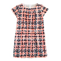 Girls' tie-dye check dress