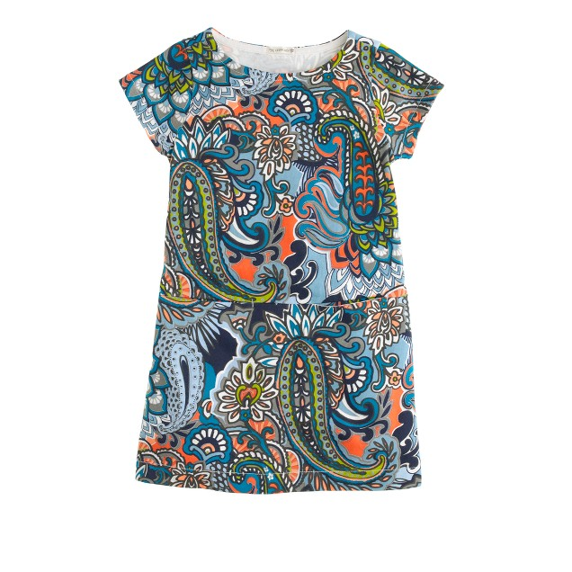Girls' Jules dress in moonglow paisley