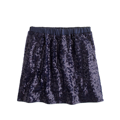 Girls' confetti sequin skirt : glitter shop | J.Crew