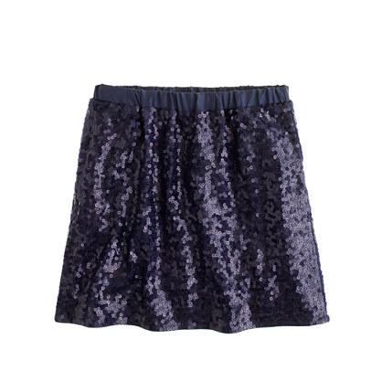 Girls' confetti sequin skirt : glitter shop | J.Crew