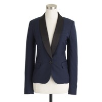 Tuxedo blazer in stretch wool flannel