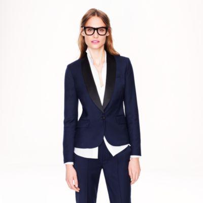 Tuxedo blazer in stretch wool flannel : | J.Crew