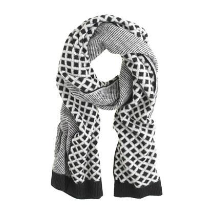 Cashmere diamond scarf