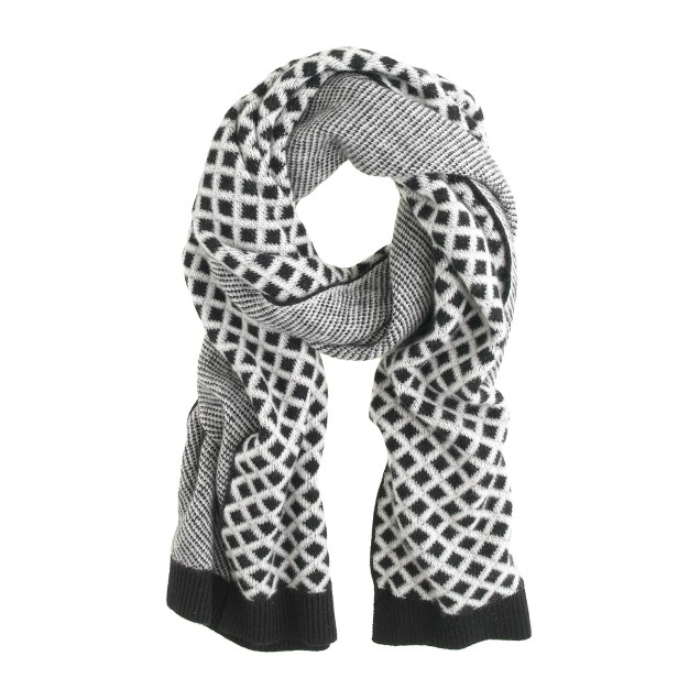 Cashmere diamond scarf