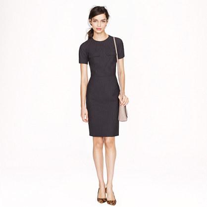 Pocket dress in stretch wool