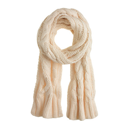 Cable-knit scarf