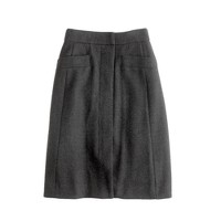 wool pocket skirt