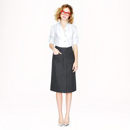 wool pocket skirt
