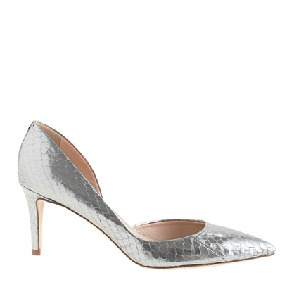 Collection Valentina metallic snakeskin d'Orsay pumps