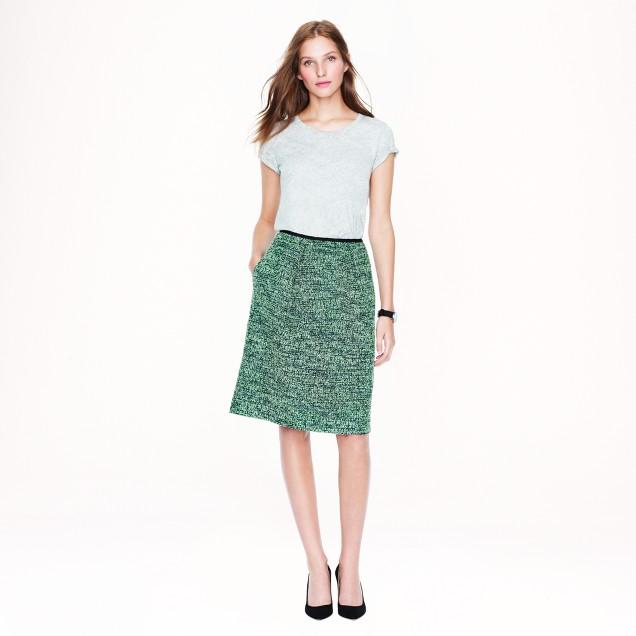 Kiwi tweed skirt