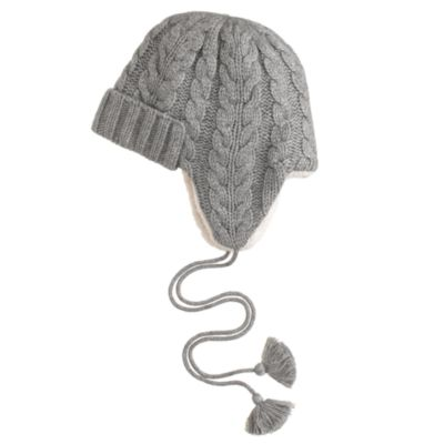 Cable-knit trapper hat : J.Crew