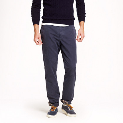 Flannel-lined chino in urban slim fit