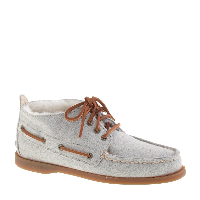 Sperry Top-Sider® for J.Crew shearling-lined flannel chukka boots