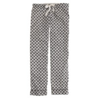 Pajama pant in end-on-end cotton foulard