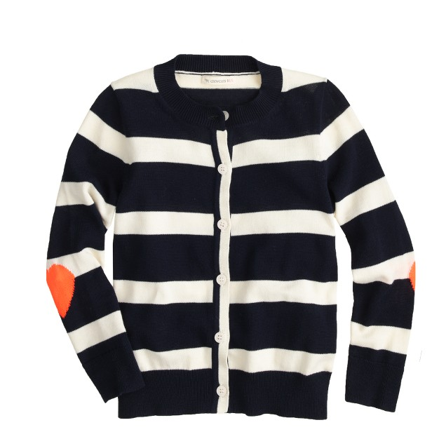 Girls' Caroline cardigan in stripe