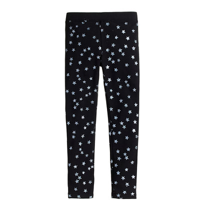 Girls' everyday leggings in glitter star