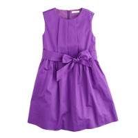 Girls' party dress in cotton sateen