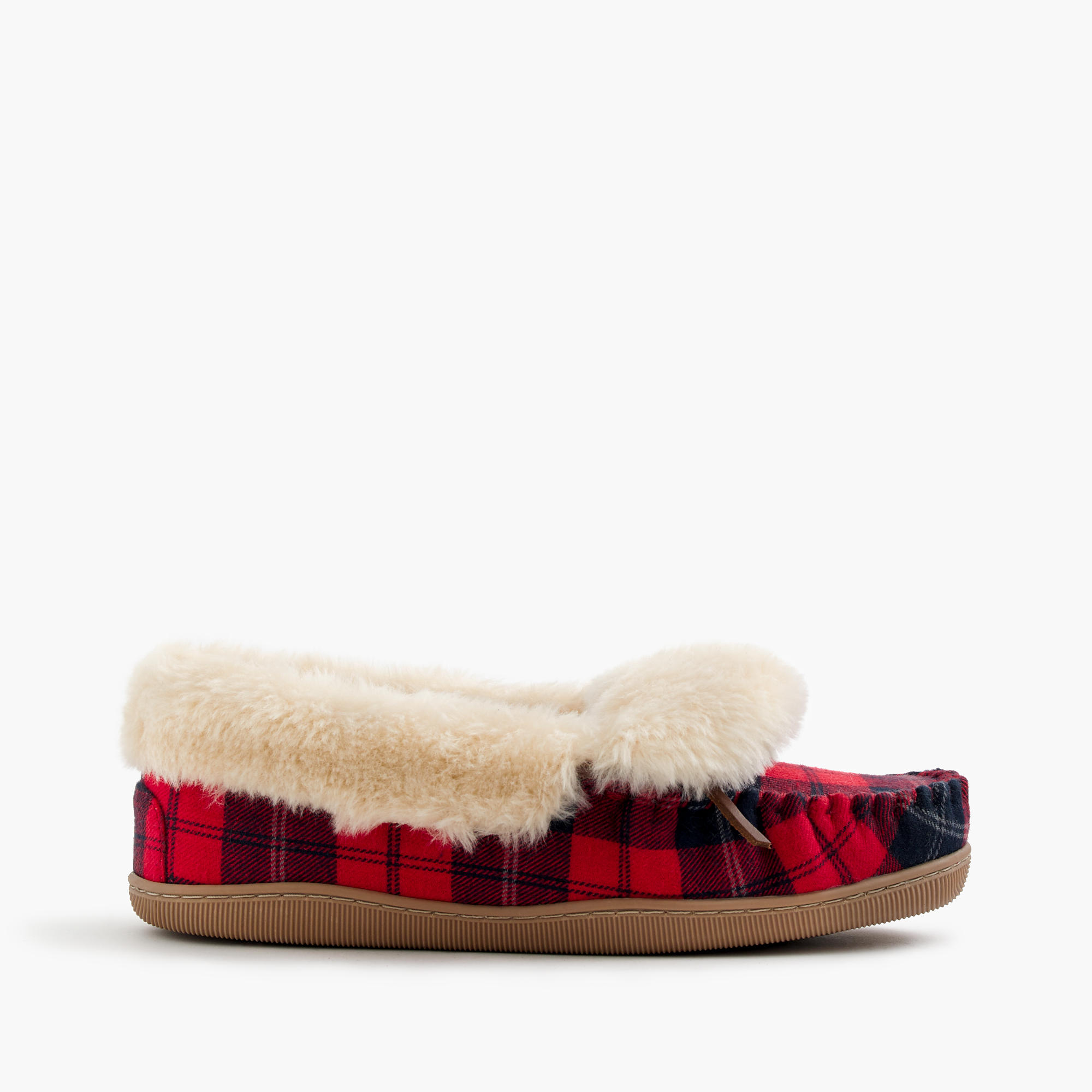 Plaid lodge moccasins women 39 s slippers j crew for J crew bedroom slippers