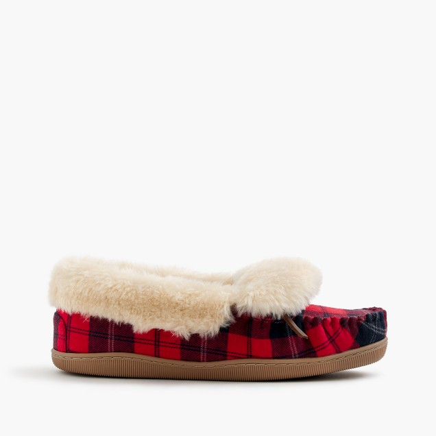 Plaid lodge moccasins