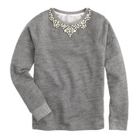 Bib necklace sweatshirt