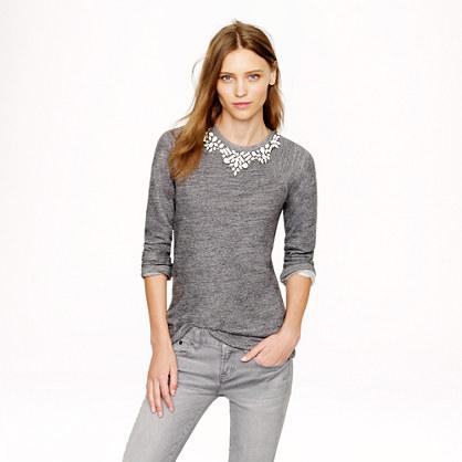 Bib necklace sweatshirt