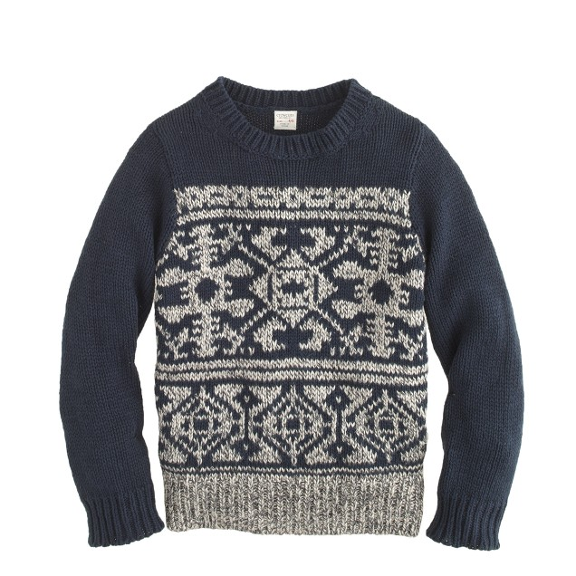 Boys' marled folk sweater