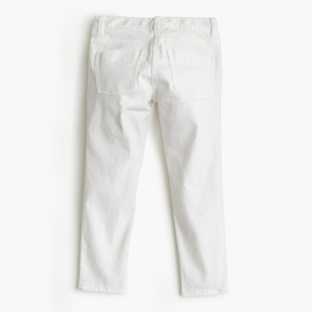 Girls' toothpick ankle jean in white