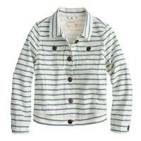 Girls' denim jacket in harbor stripe