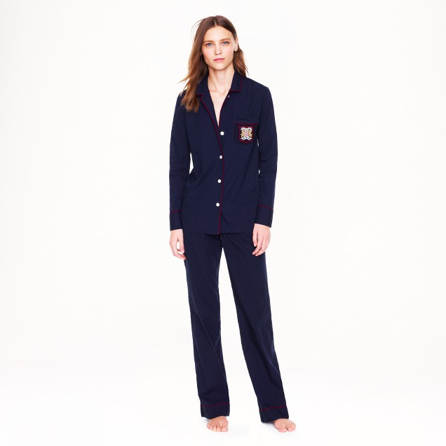 Pajama set with pocket crest