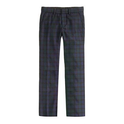 Boys' Bowery slim in Black Watch tartan