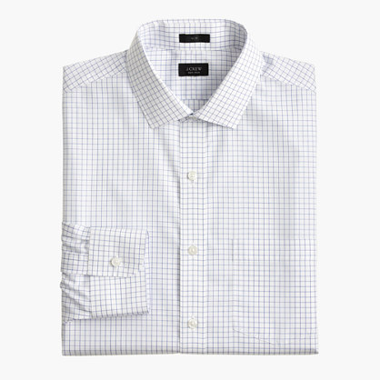 Ludlow Traveler shirt in baltic check