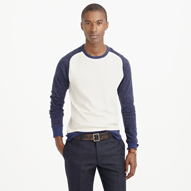 Long-sleeve thermal contrast T-shirt