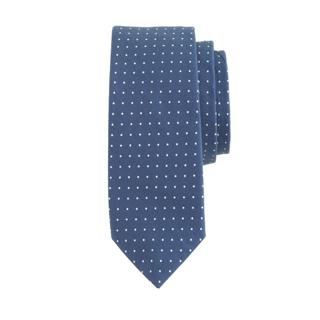 Boys' pindot cotton tie