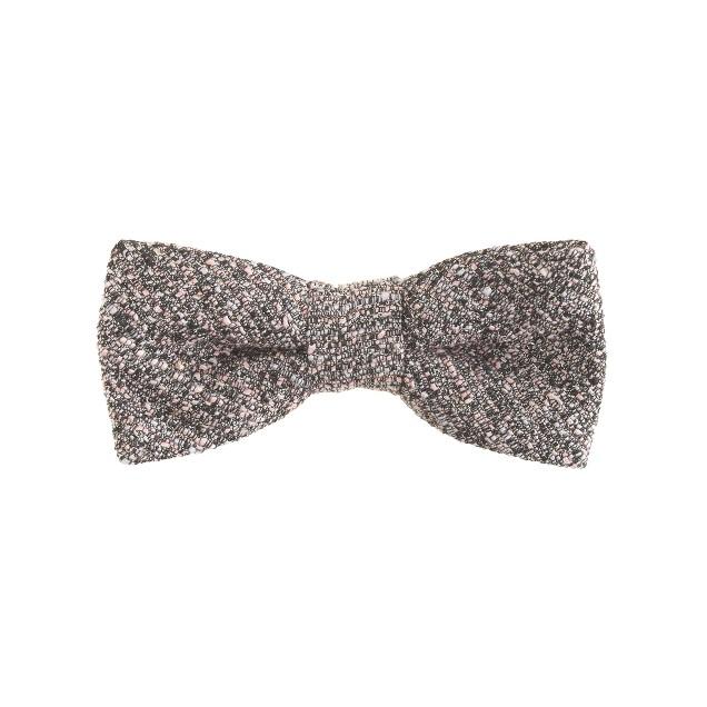 Boys' bow tie in silver twinkle tweed