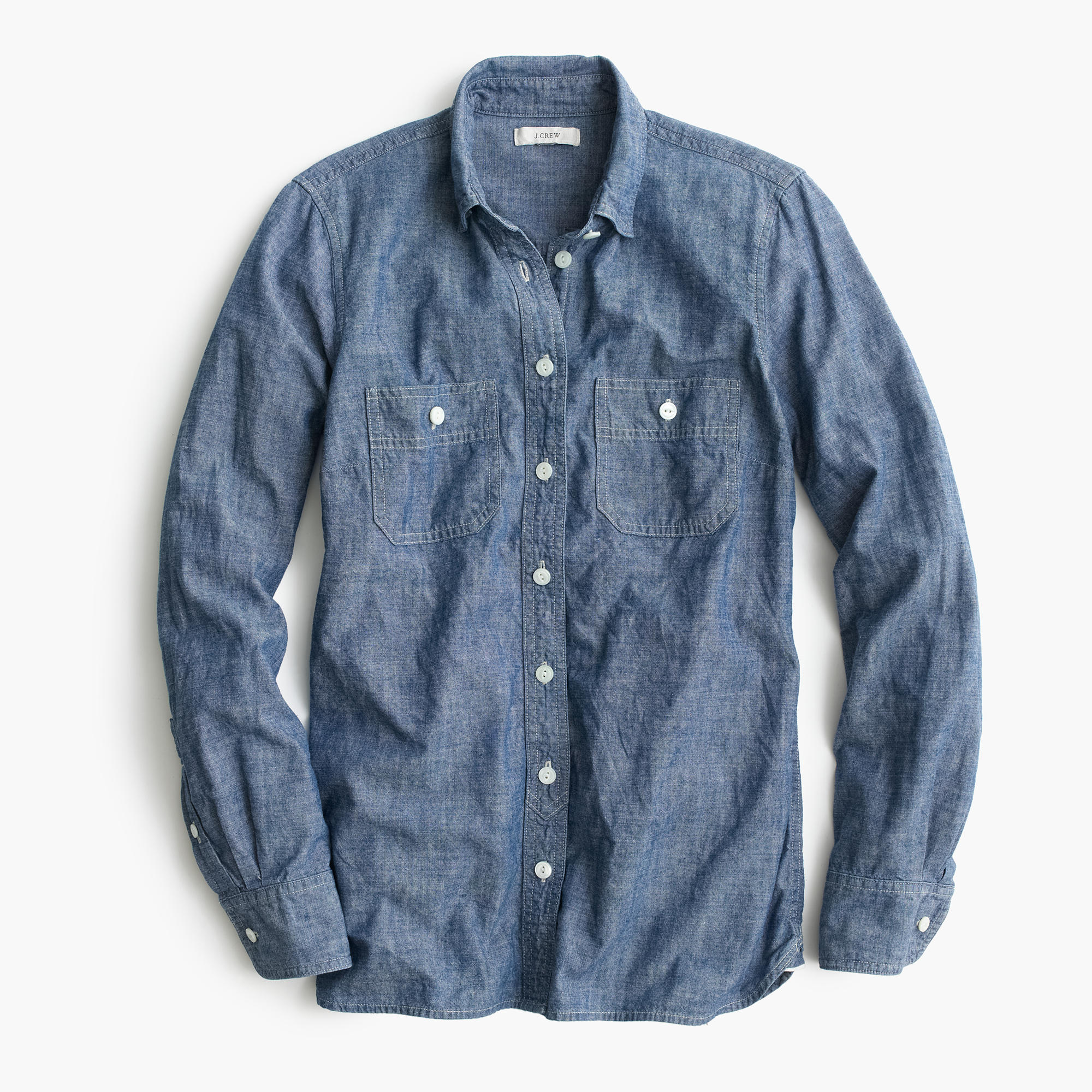 Selvedge chambray shirt women 39 s shirts j crew for Chambray shirt women
